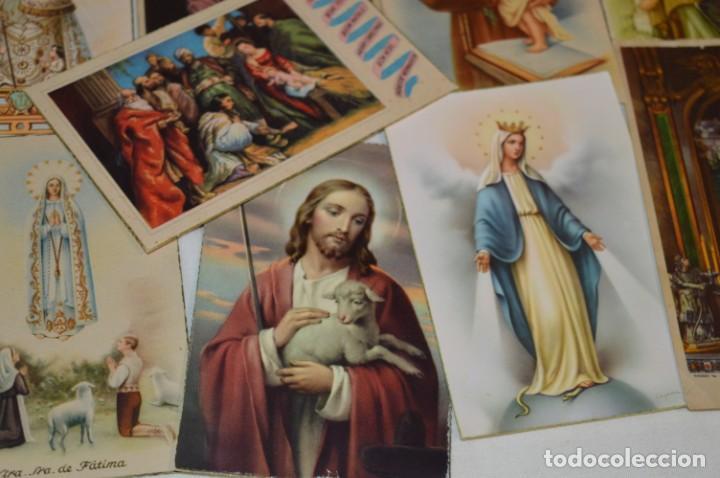 Postales: Lote 24 postales diferentes y antiguas / IMÁGENES RELIGIOSAS / En color - ¡Mira fotos/detalles! - Foto 11 - 220471782