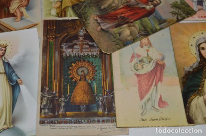 Postales: Lote 24 postales diferentes y antiguas / IMÁGENES RELIGIOSAS / En color - ¡Mira fotos/detalles! - Foto 12 - 220471782
