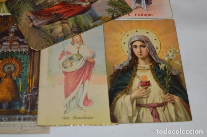 Postales: Lote 24 postales diferentes y antiguas / IMÁGENES RELIGIOSAS / En color - ¡Mira fotos/detalles! - Foto 13 - 220471782