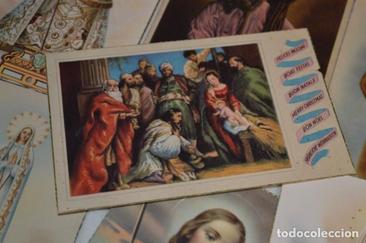 Postales: Lote 24 postales diferentes y antiguas / IMÁGENES RELIGIOSAS / En color - ¡Mira fotos/detalles! - Foto 14 - 220471782