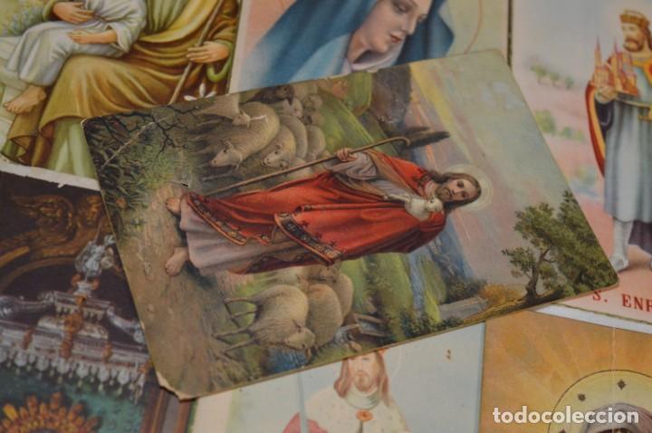 Postales: Lote 24 postales diferentes y antiguas / IMÁGENES RELIGIOSAS / En color - ¡Mira fotos/detalles! - Foto 15 - 220471782