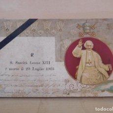 Postales: POSTAL MUERTE DEL PAPA LEÓN XIII AÑO 1903. Lote 221142498