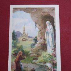 Postales: ANTIGUA ESTAMPA RELIGIOSA A LA GROTTE BÉNIE J'AI PRIÉ POUR VOUS ( FRANCIA) ...L2233. Lote 221772258