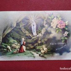 Postales: ANTIGUA ESTAMPA RELIGIOSA NUESTRA SEÑORA DE LOURDES - FB 302 - PRINTED IN ITALY ...L2234. Lote 221772481
