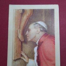 Postales: ANTIGUA ESTAMPA RELIGIOSA CON RELIQUIA PAPA PIUS XII - AÑO 1958 ...L2236. Lote 221774145