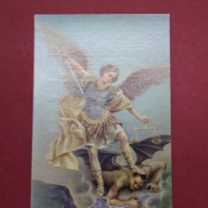 Postales: ANTIGUA ESTAMPA RELIGIOSA SAN ARCANGEL MIGUEL - BARCELONA - AÑO 1971...L2250. Lote 221777980