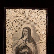Postales: ESTAMPA RELIGIOSA TROQUELADA PUNTILLAS - SANTA TERESA - 7.50 X 11.50 CM. Lote 221780518