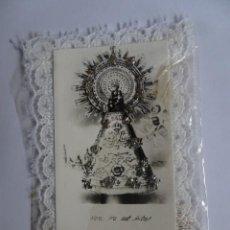 Postales: ANTIGUA IMAGEN RELIGIOSA DE LA VIRGEN DEL PILAR, VER FOTOS. Lote 221823062