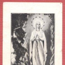 Postales: ESTAMPA RELIGIOSA NUESTRA SEÑORA DE LOURDES. EST.4112. Lote 221874127
