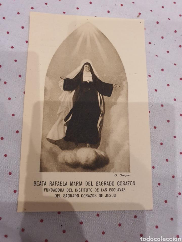 ESTAMPA ANTIGUA DE LA BEATA RAFAELA MARIA DEL SAGRADO CORAZON (Postales - Postales Temáticas - Religiosas y Recordatorios)
