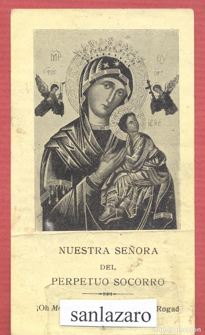 ESTAMPA RELIGIOSA NUESTRA SEÑORA DEL PERPETUO SOCORRO EST.4126 (Postales - Postales Temáticas - Religiosas y Recordatorios)