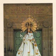 Postales: POSTAL NUESTRA SEÑORA DE LOS MILAGROS DE AMIL. MORAÑA. PONTEVEDRA (1973) - POSTALES FAMA. Lote 222080681