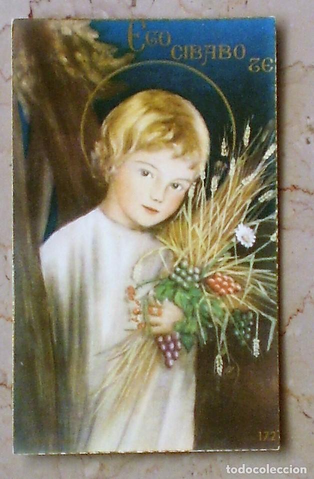 ESTAMPA RELIGIOSA EGO CIBABO TE - 10 X 7 - 172 (Postales - Postales Temáticas - Religiosas y Recordatorios)