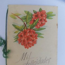 Postales: MIL FELICIDADES, A THOUSAND CONGRATULATIONS, MILLE FÉLICITATIONS, 1949. Lote 222186406