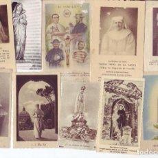 Postales: LOTE DE MAS DE 80 ANTIGUAS ESTAMPAS RELIGIOSAS, RECORDATORIOS , ETC.., TODO FOTOGRAFIADO.. Lote 222412831