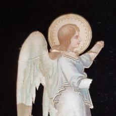 Postales: ANGEL TROQUELADO DE ESCENA DE ANUNCIACIÓN . SIGLO XIX. LEER CONDICIONES ANTES DE PUJAR.. Lote 222422503