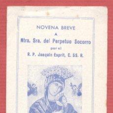 Postales: ESTAMPA RELIGIOSA NTRA. SRA. DEL PERPETUO SOCORRO EST.4182. Lote 222639683