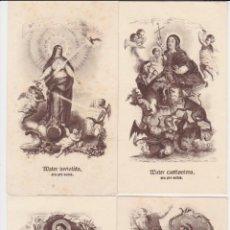 Postales: 7 ESTAMPES – LLETANIES DE LA MARE DE DEU – LA MILAGROSA (5,6,11,12,16,17,61). Lote 222793205