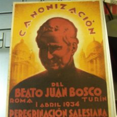 Postales: CANONIZACIÓN DE SAN JUAN BOSCO. Lote 222798520