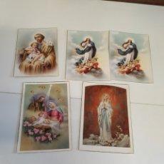 Postales: 5 ANTIGUAS POSTALES RELIGIOSA. Lote 222889536