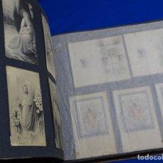 Postales: GRAN ÁLBUM DE POSTALES Y RECORDATORIOS RELIGIOSOS.MAS DE CIEN.. Lote 223037690