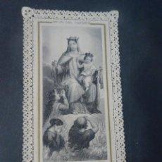 Postales: ANTIGUA ESTAMPA RELIGIOSA DE PUNTILLA, VER FOTOS. Lote 223499842