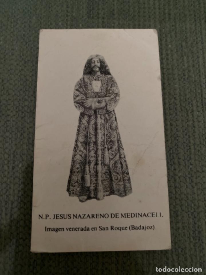 ANTIGUA Y RARA ESTAMPITA RELIGIOSA N P JESUS NAZARENO MEDINACELI BADAJOZ (Postales - Postales Temáticas - Religiosas y Recordatorios)