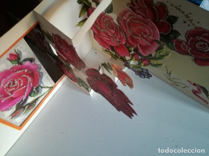 Postales: Postal superdesplegable troquelada y purpurina de La Virgen años 60 - Foto 4 - 224016328