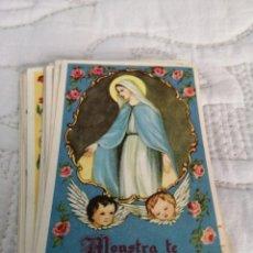 Postales: 28 ESTAMPES DEL MES DE MARIA. TEXT DE J. VERDAGUER. EN CATALÀ. Lote 224238868