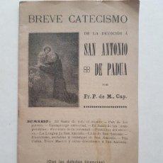Postales: BREVE CATECISMO DEVOCION SAN ANTONIO DE PADUA CUADERNILLO 8 HOJAS. Lote 226605040