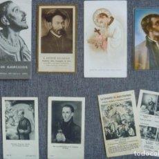 Postales: GRAN LOTE ESTAMPAS ANTIGUAS GARATE IGNACIO BERCHMANS GONZAGA SANTOS COMPAÑÍA JESUS. Lote 226791001