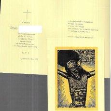 Postais: RECORDATORIO DEFUNCIÓN - IGUALADA 1978. Lote 227710125