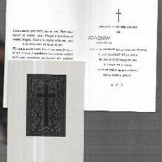 Postais: RECORDATORIO DEFUNCIÓN * CASTELLFOLLIT DE LA ROCA * 1990. Lote 227767320