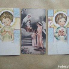 Postales: LOTE 3 RECORDATORIOS DE COMUNION. Lote 227975820