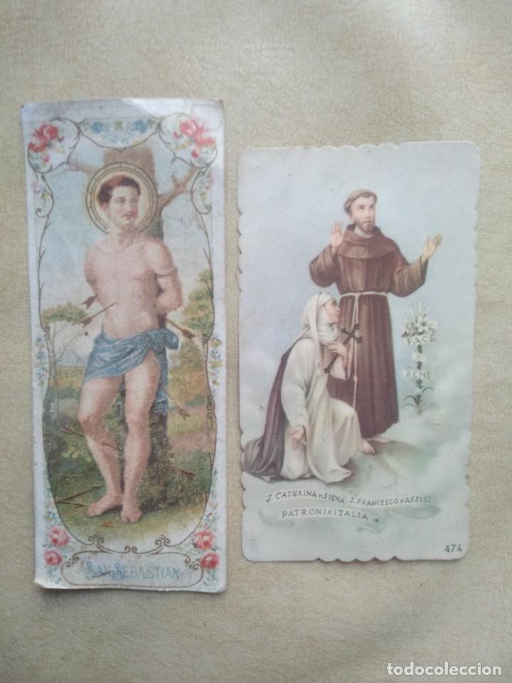 LOTE 2 ANTIGUAS ESTAMPAS RELIGIOSAS (Postales - Postales Temáticas - Religiosas y Recordatorios)