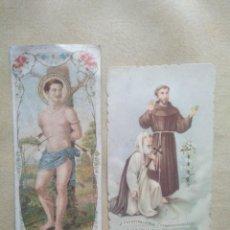 Postales: LOTE 2 ANTIGUAS ESTAMPAS RELIGIOSAS. Lote 227976000