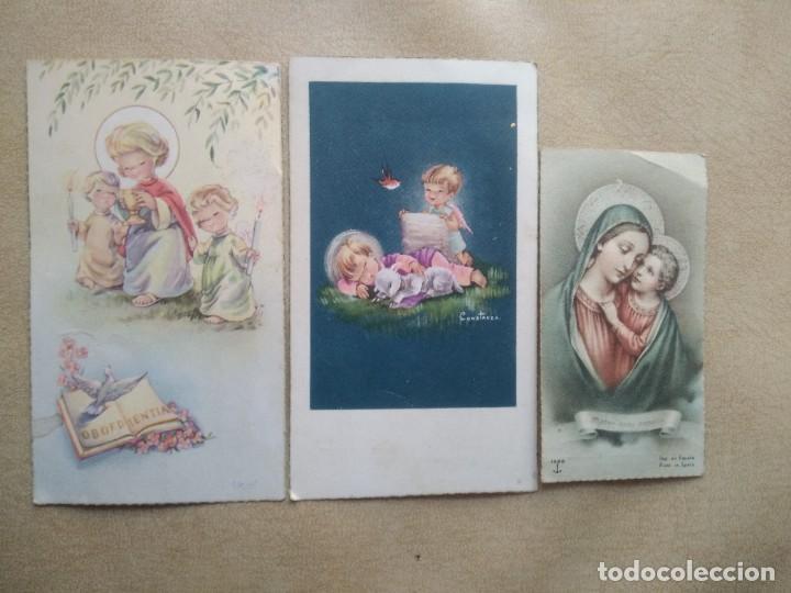 LOTE 3 ESTAMPAS DE COMUNION (Postales - Postales Temáticas - Religiosas y Recordatorios)