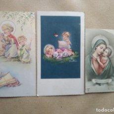 Postales: LOTE 3 ESTAMPAS DE COMUNION. Lote 227976220