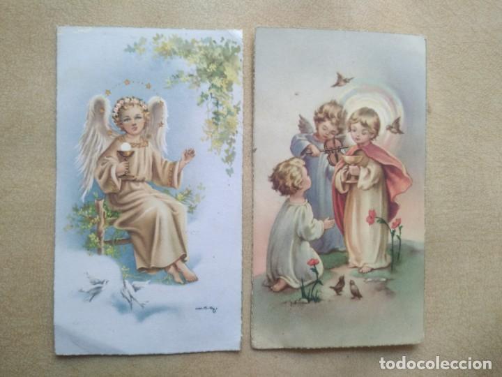 LOTE 2 ESTAMPAS DE COMUNION (Postales - Postales Temáticas - Religiosas y Recordatorios)