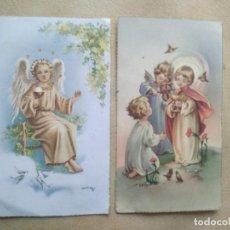 Postales: LOTE 2 ESTAMPAS DE COMUNION. Lote 227976340