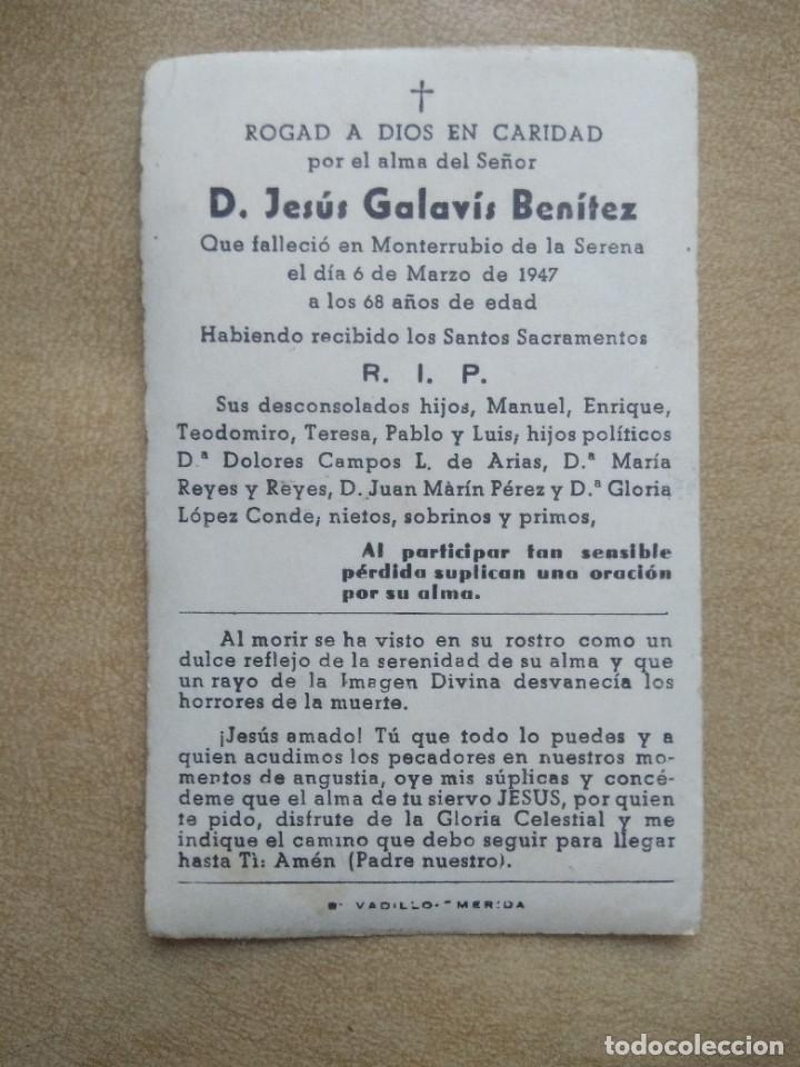 Postales: recordatorio antigua esquela - Foto 2 - 227976522