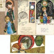 Postales: LOTE 6 RECORDATORIOS COMUNION *SALMONS* - 1962 A 1969. Lote 228147100