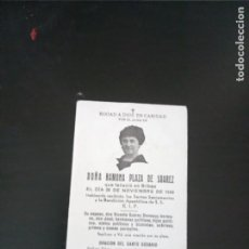Postales: RAMONA PLAZA VIUDA SUÁREZ DEVEAUX 1949 BILBAO. Lote 229521585
