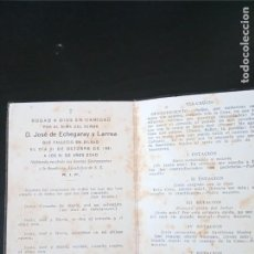 Postales: RECORDATORIO JOSÉ ECHEGARAY LARREA 1931 BILBAO. Lote 229522100