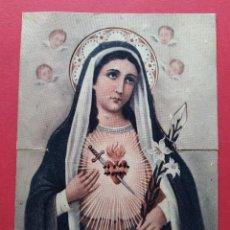 Postales: TARJETA RELIGIOSA - CRUZ ROJA - PURISIMO CORAZON DE MARIA ( TROQUELADO DESPEGADO) ... L2955. Lote 231451275