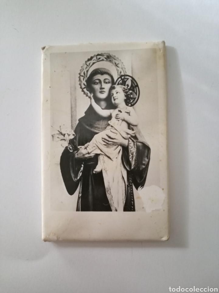 SAN ANTONIO DE PADUA ANTIGUA ESTAMPA RECORDATORIO ESTAMPERIA CESARAUGUSTA ZARAGOZA (Postales - Postales Temáticas - Religiosas y Recordatorios)