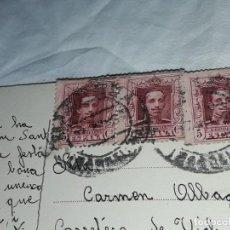 Postales: ANTIGUA POSTAL RELIGIOSA CON 3 SELLOS ALFONSO XIII. Lote 233719245