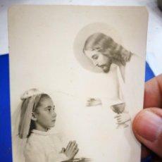 Postales: RECORDATORIO FOTOGRÁFICO PRIMERA COMUNIÓN MARÍA SOLEDAD SERRANO JIMÉNEZ 1964 BILBAO IGLESIA DE LOS F. Lote 234311500