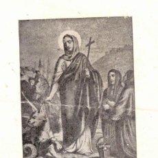 Postales: MILAGROSA IMAGEN DE SANTA MARTA VENERADA POR SU CONGREGACION EN LA REAL IGLESIA DE CALATRAVAS. Lote 234859390