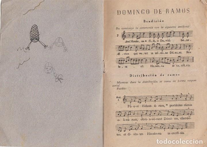 Postales: Antiguo folleto Plebs Sancta Cánticos de Semana Santa Palacio Arzobispal Valencia 60s qz - Foto 3 - 234908805